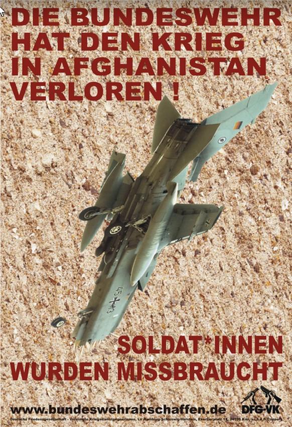 "Plakat ""Die Bundeswehr hat den Krieg in Afghanistan verloren"" A3"